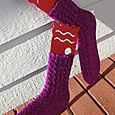 Cross Hatch Lace Socks